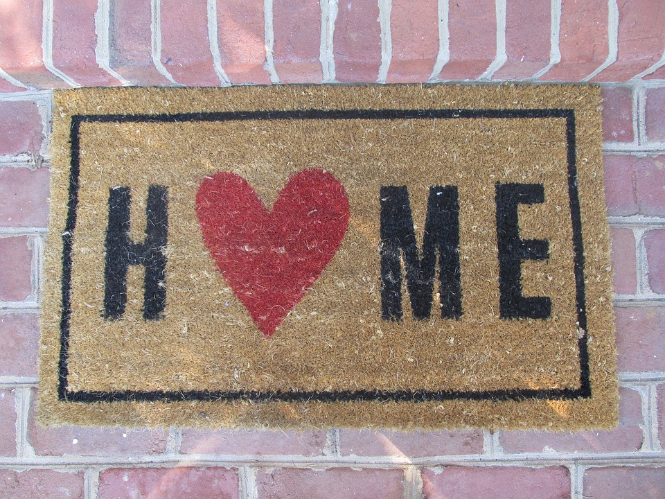 I Love Home Welcome mat