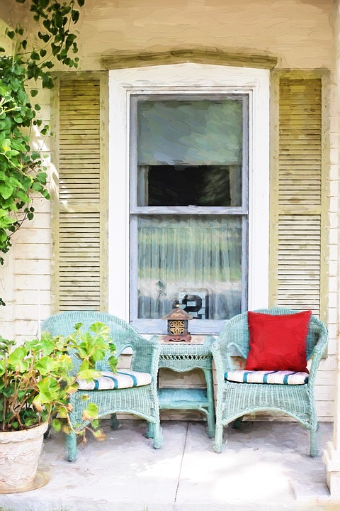Front Yard Wicker Chair Seating